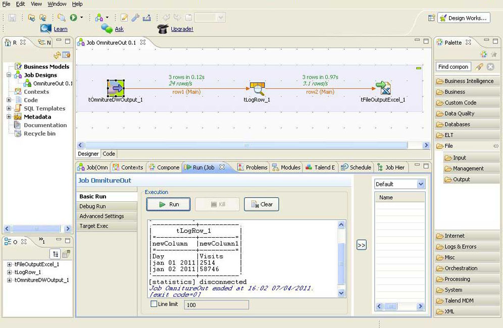 Omniture-Talend Connector